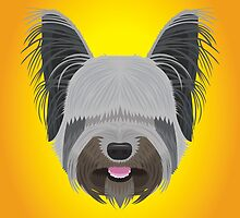Skye Terrier by threeblackdots