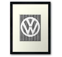 VW Golf White Logo with Black Golf Mk1-Mk7 Framed Print