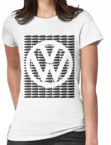 VW Golf White Logo with Black Golf Mk1-Mk7 Womens Fitted T-Shirt