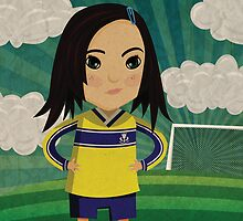 Soccer Girl by threeblackdots