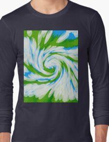 Groovy Green Blue Swirl T-Shirt