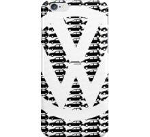 VW Golf White Golf Logo with Black Golf Mk1-Mk7 iPhone Case/Skin
