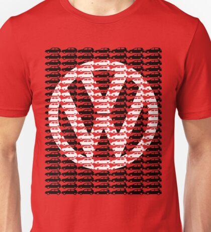 VW Golf White Golf Logo with Black Golf Mk1-Mk7 Unisex T-Shirt