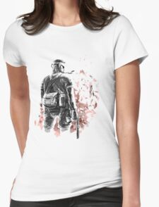 Big Boss /Sketched Womens Fitted T-Shirt