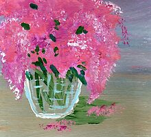 Lilacs in a Vase by Eliza Donovan