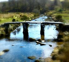 Clapper Bridge in Dartmoor by LeRoyM