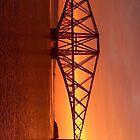 Forth Rail Bridge (Large) Orange Sunrise.   by LBMcNicoll