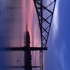 Forth Rail Bridge (Large) Purple Sunrise by LBMcNicoll