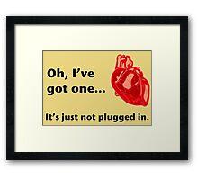 Heart - less Framed Print