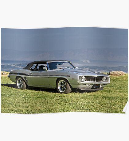 1969 Chevrolet Camaro Convertible Poster