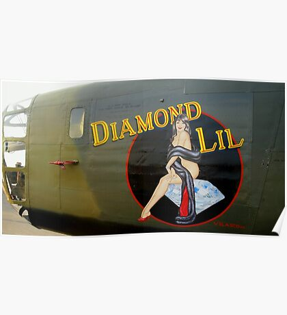 Diamond Lil - Bomber Aircraft Art Poster