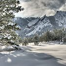 The Flatirons In A Gown of White by nikongreg