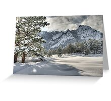 The Flatirons In A Gown of White Greeting Card