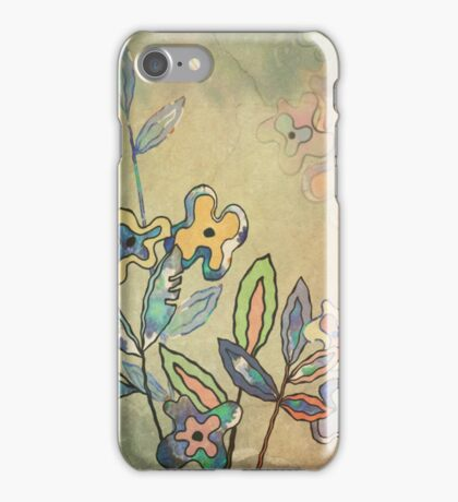 Flowers On The Stone iPhone Case/Skin