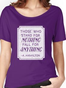 Stand or Fall Quote (White) Women's Relaxed Fit T-Shirt