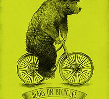 Bears on Bicycles by Eric Fan