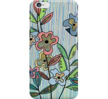 Stripes And Flowers iPhone Case/Skin