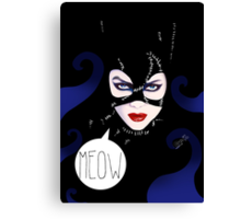 MEOW - Catwoman Canvas Print