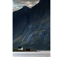 House in the fjord Photographic Print