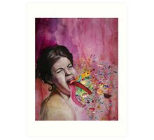 Throwing Up All Kinds Of Fun Art Print
