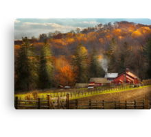 Country - Barn - The end of a season Canvas Print