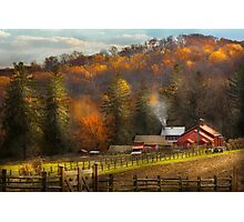 Country - Barn - The end of a season Photographic Print