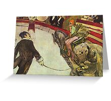 Toulouse Lautrec - The Circus Greeting Card
