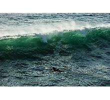 Emerald California Surfing - La Jolla, San Diego, California Photographic Print