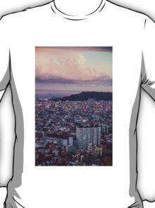 sunset over barcelona T-Shirt