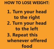 How To Lose Weight (black) by artemisd