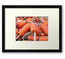 Popsicle Buoys Framed Print