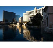 Cheerful Early Morning Bellagio Reflections Photographic Print