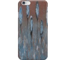 Abstract In Blue, Chamoisee and Wheat  iPhone Case/Skin