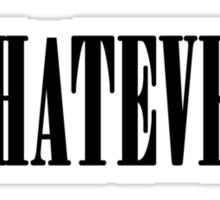 Nirvana oh well whatever nevermind lyrics shirt Sticker