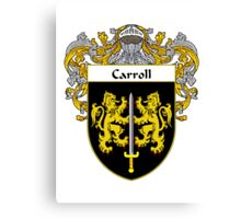 Carroll Coat of Arms/Family Crest Canvas Print