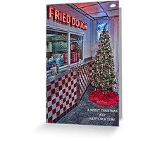 Maine Beach Food Christmas Card Greeting Card