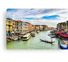 View of the Grand Canal in Venice Canvas Print