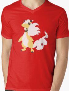 Mega Ampharos Minimalist Mens V-Neck T-Shirt