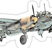 Junkers Ju 88 Bomber Airplane Sticker