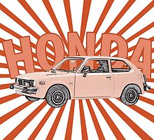 1976 Honda Civic sunburst by surgedesigns