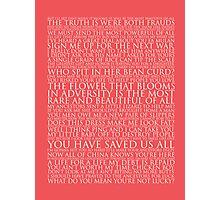 Mulan Block Quote Typography Print Photographic Print