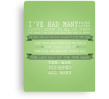End All Wars (50th Anniversary, The Day of the Doctor, Doctor Who) Canvas Print