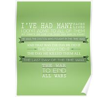 End All Wars (50th Anniversary, The Day of the Doctor, Doctor Who) Poster