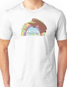 feelin groovy happy rainbow hippie sloth Unisex T-Shirt