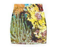 Sea Anemone and Coral Wall Collage Mini Skirt