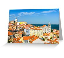 Lisbon Downtown Greeting Card