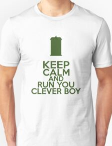 Keep Calm and Run You Clever Boy (Clara Oswald, Doctor Who) T-Shirt
