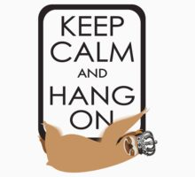 keep calm and hang on happy sloth Kids Clothes