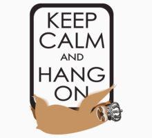keep calm and hang on happy sloth Kids Tee