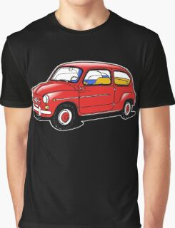fiat 600 red Graphic T-Shirt